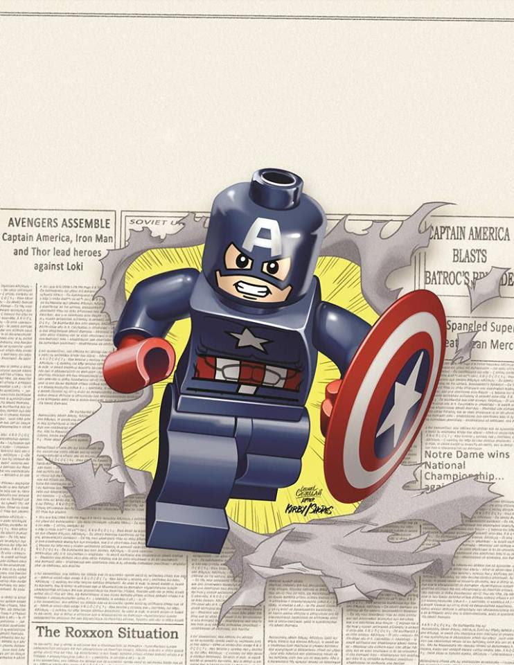 LEGO Captain America by Leonel Castellani