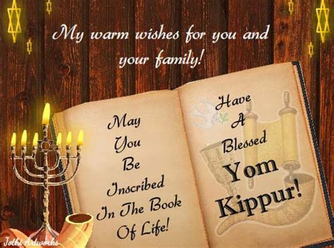 Warm Sincere Wishes! Free Yom Kippur eCards, Greeting