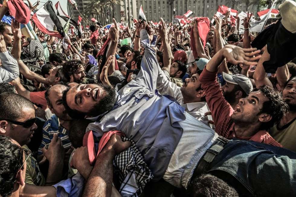 Celebración del triunfo de Morsi en las elecciones de 2012 en Egipto.