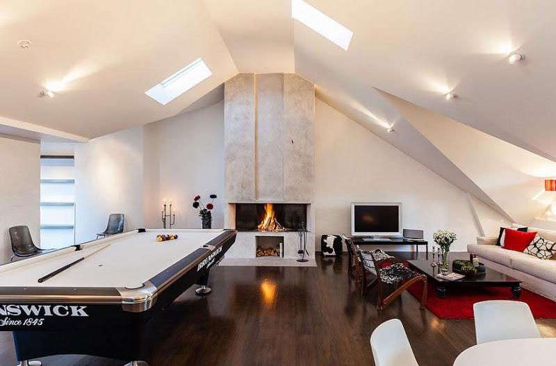Swedish Loft Gameroom Interior Design Ideas