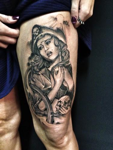 Tattoos Piratepinupjohn Lewissexyskullevil A Photo On Flickriver