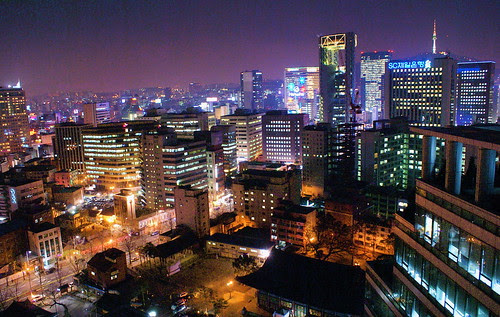 city, Seoul, distinction, ancient houses, high-rise buildings, beautiful, Asia-pacific