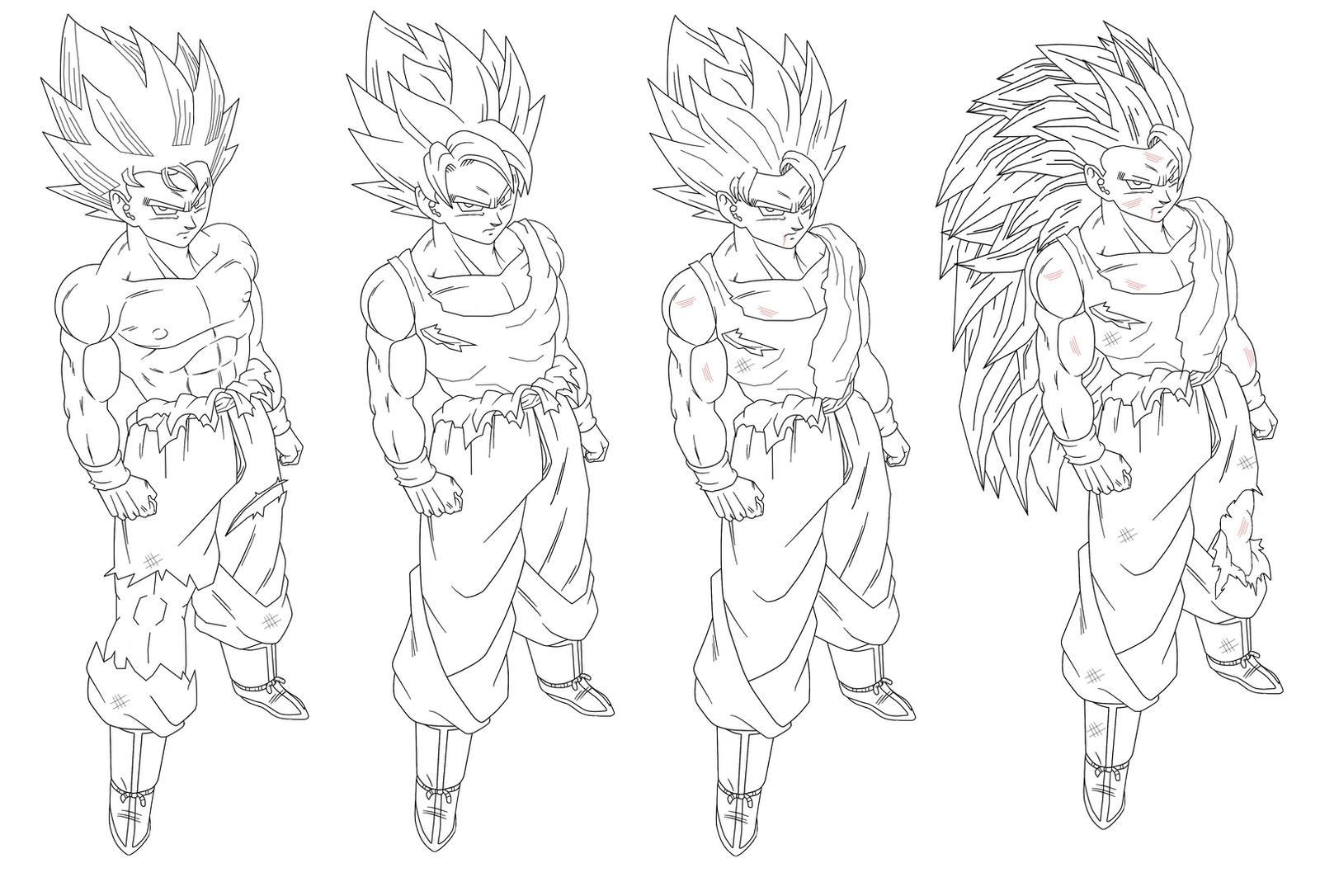 Coloriage Goku Ultra Instinct Cheap Au Moment De Limpact Goku Sest