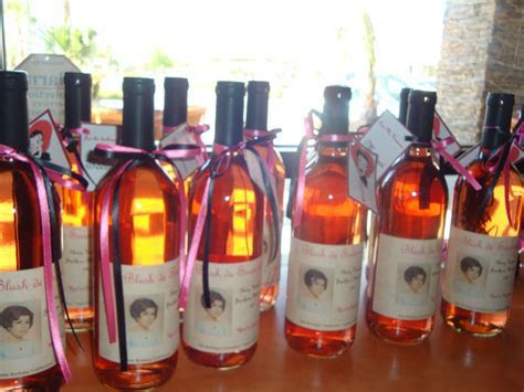 60th birthday party favors: Made labels using Mom's