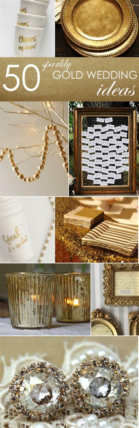 gold ideas  weddings parties wedding ideas