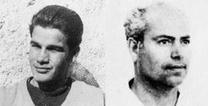 Δύο από τους πρωταγωνιστές της επιχείρησης για την ανατίναξη της σκάλας του σχολείου της Καισαριανής. Αριστερά ο θρυλικός διμοιρίτης του ΕΛΑΣ, ο φόβος και ο τρόμος των Ταγμάτων Ασφαλείας, Νίκος Μαραμπότας (εκτελέστηκε στην Κεφαλονιά την Ανοιξη του 1949). Δεξιά ο μαχητής Σπύρος Μήλας, που είχε περάσει ήδη τα βασανιστήρια στα κρατητήρια της οδού Μέρλιν, το 1943, αργότερα, μετά από 20 χρόνια φυλακές, γνώρισε, το 1967, την εξορία στα Γιούρα και τη Λέρο – είναι αυτός που πρότεινε την αγιογράφηση της Αγιας Κιουράς στη Λέρο, από τους κρατούμενους της χούντας. Πέθανε τον Νοέμβρη του 2007.