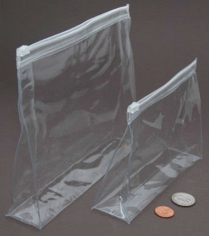Heatseal clear plastic bags, clear pvc cosmetic bag,zip top vinyl