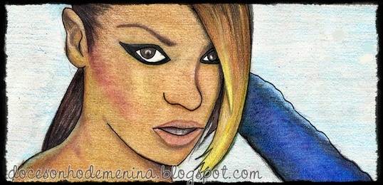 "Homenagem de ""Quinta"" - Videophone, Beyoncé desenho"