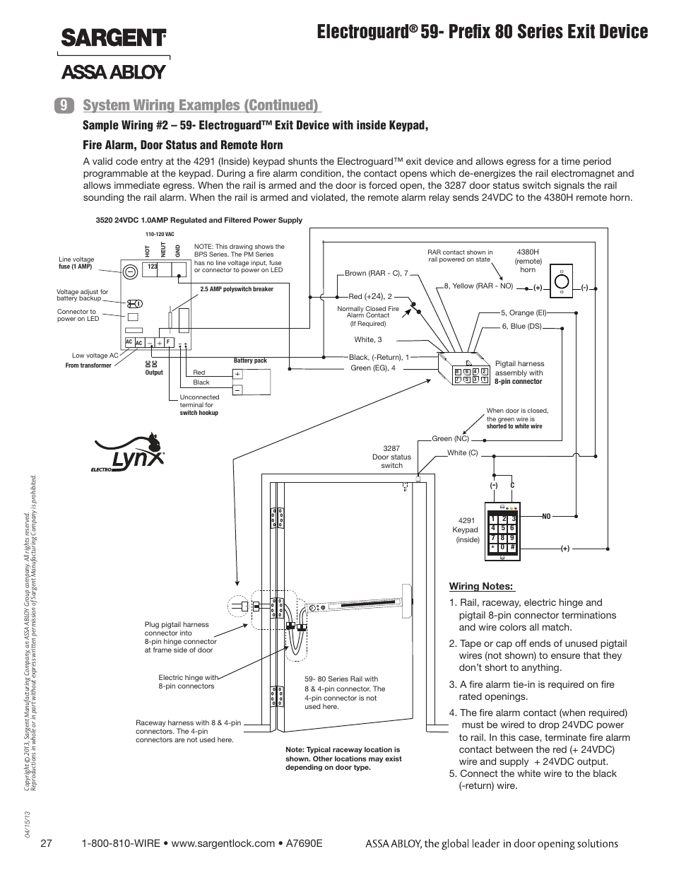 Sargent Wiring Diagram