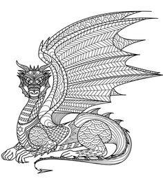 schwierige ausmalbilder für erwachsene drachen - malvorlagen
