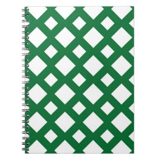 White Diamonds on Green Note Books