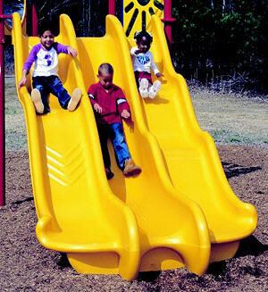 Commercial Playground Slides Straight Spiral Plastic Tube Slides
