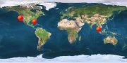 world map hits counter