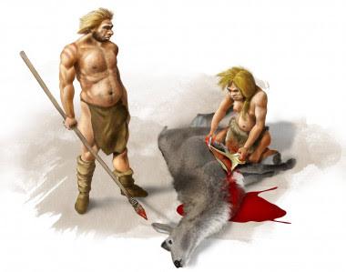 <p>Pareja neandertal. / José Antonio Peñas (SINC)</p>