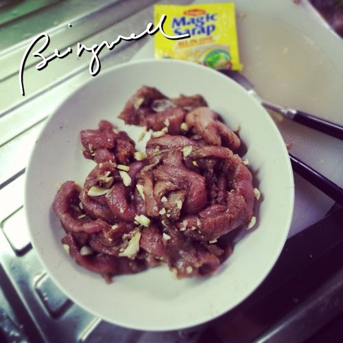 Cooking Garlic n' Pepper Pork