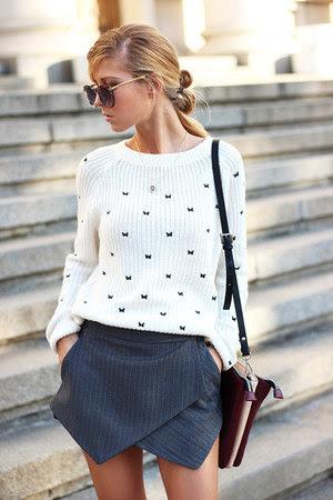 white Choies sweater - crimson ankle boots boots - crimson bag