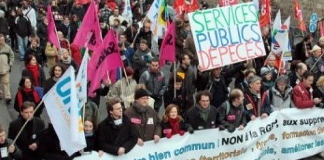 """L'appel à la mobilisation des fonctionnaires mardi pour dénoncer """"la politique d'austérité salariale"""" du gouvernement devrait se traduire par de nombreux rassemblements et manifestations, a-t-on appris lundi auprès des syndicats.  (c) Afp"""