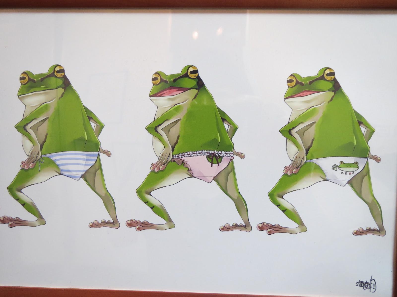 溺れるカエル ぷちとまと的かえるアート展