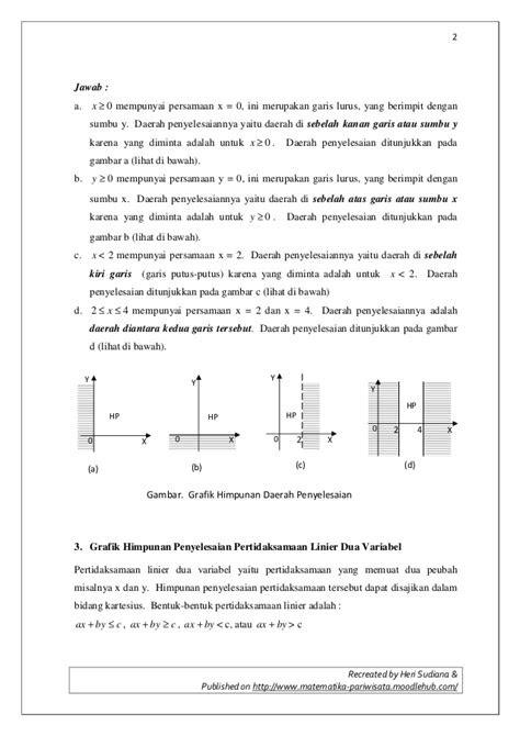 Contoh Himpunan Penyelesaian Dari Persamaan Linear - World