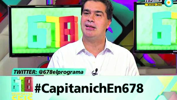 A cargo. Capitanich, jefe de Gabinete, dio datos sobre publicidad oficial. En la foto, en el oficialista 678. /IMAGEN DE TV