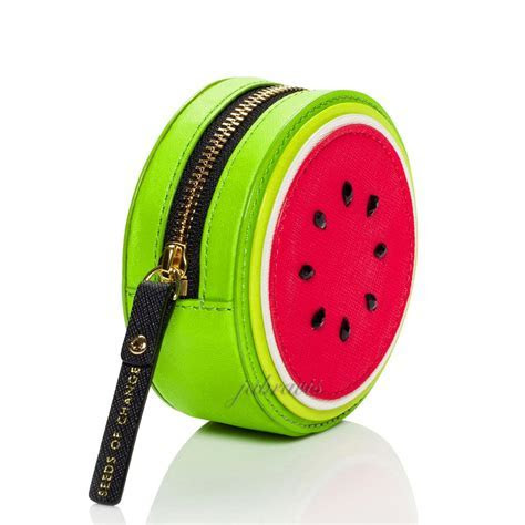 Kate Spade Splash OUT Saffiano Leather Watermelon Coin