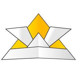 H25折り紙カブト金イラストレーター無料素材