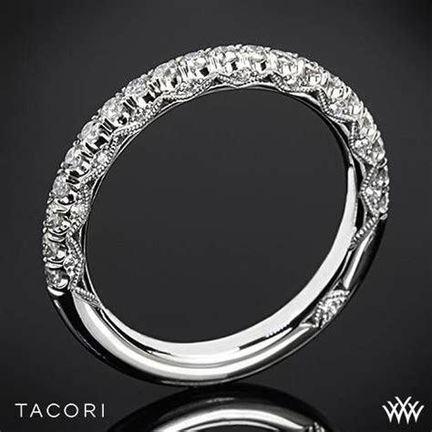 18k White Gold Tacori HT2545B Petite Crescent Half