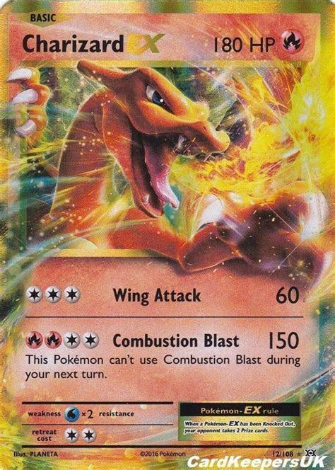 Charizard 12 108 EX   Half Art Rare   Pokemon Card   XY