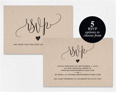 RSVP Postcard RSVP template wedding rsvp cards wedding rsvp