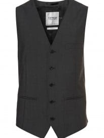 Topman Charcoal Novak Suit Waistcoat