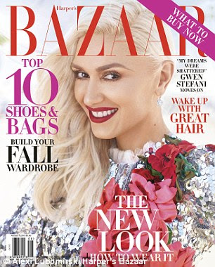 Cover girl: Gwen graces the cover of Harper's Bazaar's new issue, which is out July 19