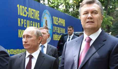 Vlagyimir Putyin orosz és Viktor Janukovics ukrán elnök Fotó RIAN