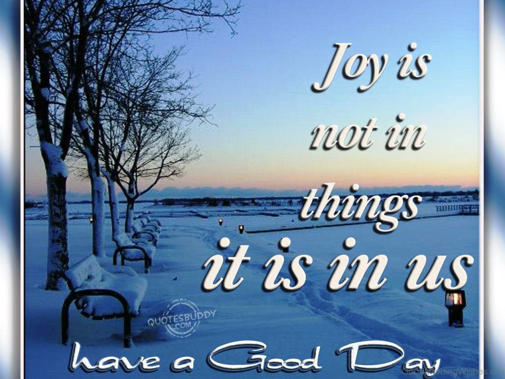 16 Winter Good Morning Quotes