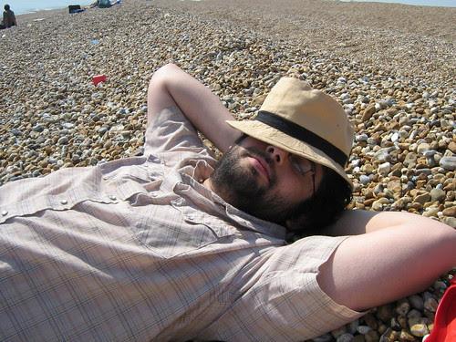 Nic on Dungeness beach