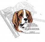 Pyrenean Mastiff Dog Intarsia or Yard Art Woodworking Pattern - fee plans from WoodworkersWorkshop® Online Store - Pyrenean Mastiff Dogs,pets,animals,dogs,breeds,instarsia,yard art,painting wood crafts,scrollsawing patterns,drawings,plywood,plywoodworking plans,woodworkers projects,workshop blueprints