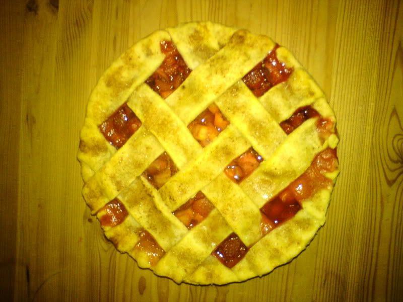 My first Strawberry Rhubarb Pie