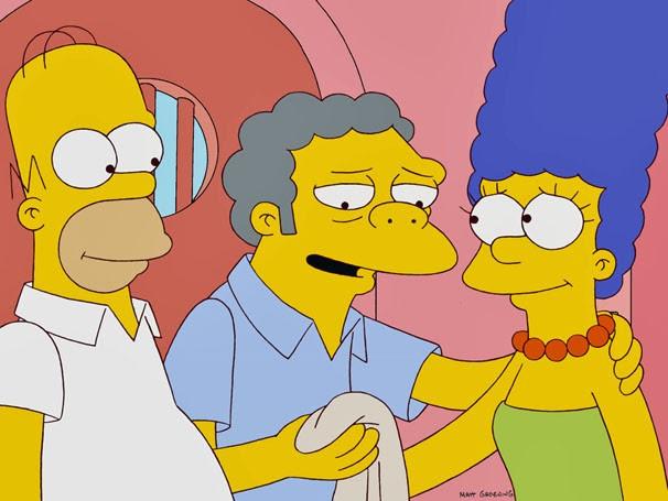 Homer e Marge devolvem o pano de Moe (Foto: Divulgação / Twentieth Century Fox)