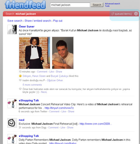 FriendFeed Real Time Search (pause)