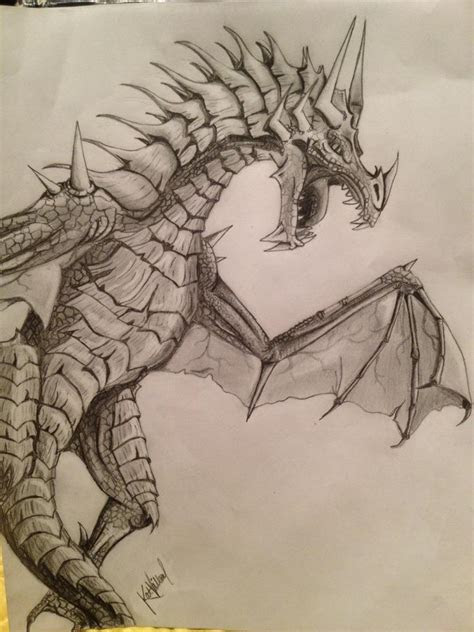 awesome dragon drawing cute cool   pinterest