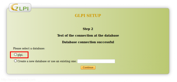 Select GLPI MySQL Database