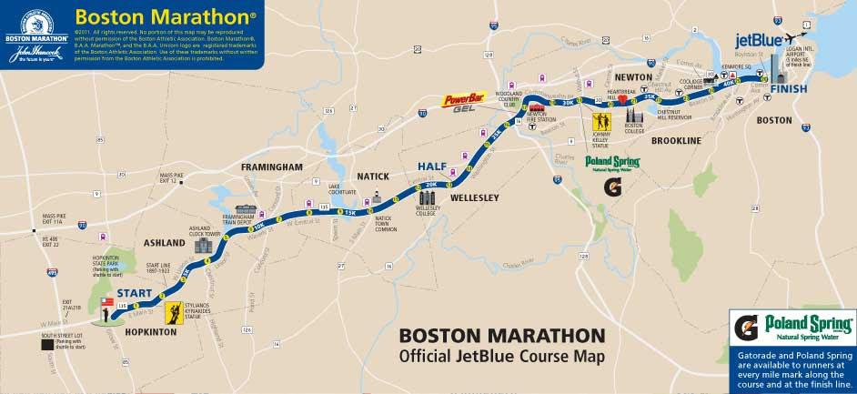 boston marathon course. The Boston Marathon Course!