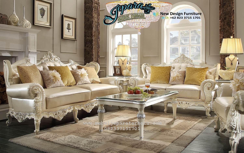 Set Sofa Ruang Tamu Modern Terbaru Klasik Ukiran SST 090 Jual Set