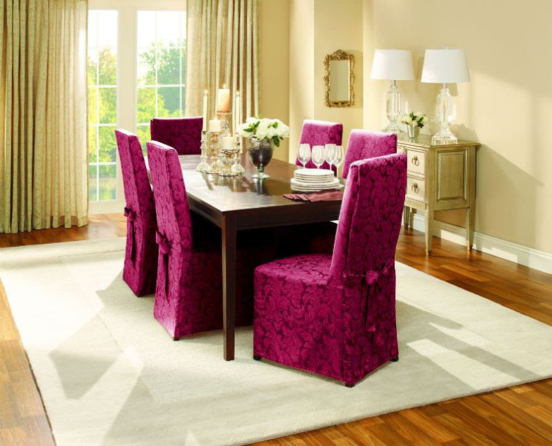 Elegant Slipcover for Dining Room Chairs \u2013 Stylish Look  HomesFeed