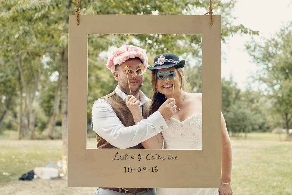 Vintage Polaroid Photo booth at wedding at Tudor Barn, Belstead Wedding - www.helloromance.co.uk