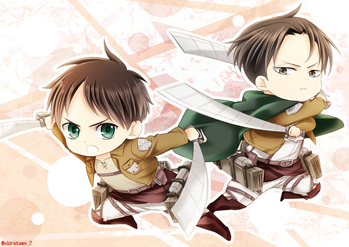 Eren And Levi Levi Rivaille Shingeki No Kyojin Wallpaper