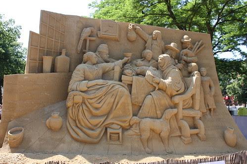 Esculturas de areia - Den Haag