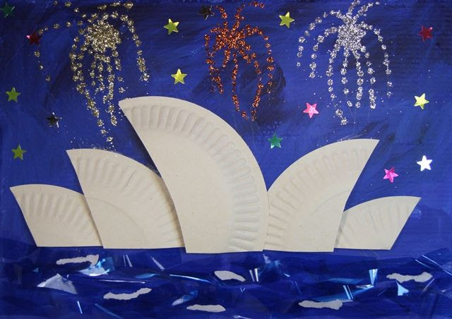 Australia Day craft - Sydney Opera House