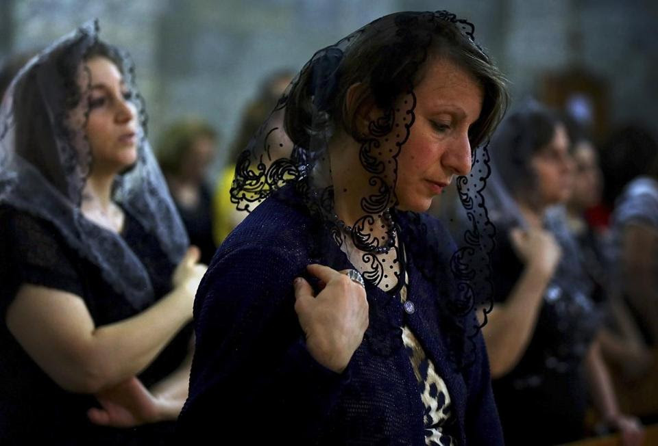 In the past week, some 160 Christian families fled to Alqosh, near the autonomous Kurdish zone of northern Iraq.