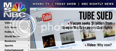 MSNBC Google Sued by Viacom
