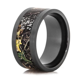 mens black zirconium mossy oak breakup camo ring